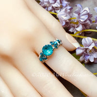 Laguna DeLite Ring, Genuine Swarovski Crystal, Handmade Ring, Sterling Silver, US Size 6.5