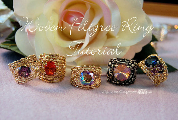 Wire Woven Filigree Rings, Wire Wrap Ring Tutorial