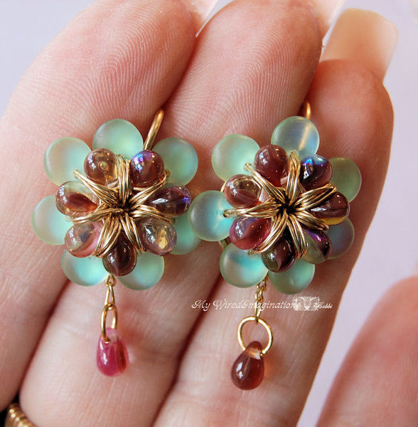 Fanciful Flowers Earring Tutorial