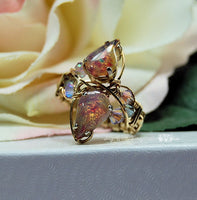Marcella Crystal Bypass Ring, DIY Wire Wrap Crystal Ring, Bypass Ring Pattern