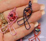Awareness Ribbon Pendants, Beginners Wire Wrap Jewelry Tutorial