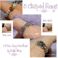 Clasp Rings, Wire Wrap Ring Tutorial, 3 FULL VARIATIONS, Tutorial Discount Pkg