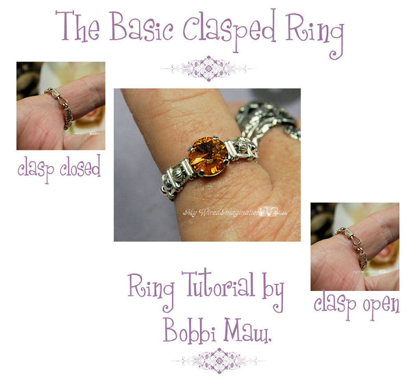 Basic Clasp Ring Pattern, Wire Wrap Ring Tutorial