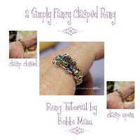Simply Fancy Ring With a Clasp, Wire Wrap Ring Pattern