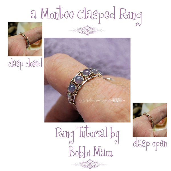 Montee Ring With a Clasp, Wire Wrap Ring Pattern, DIY Ring Pattern with FREE Montees
