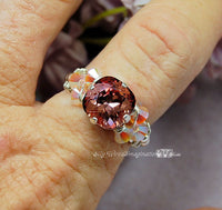 Swarovski Crystal Antique Pink 10mm 4470 Square With Prong Setting