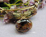 Cacoxenite in Amethyst, One of a Kind Handmade Amethyst Necklace