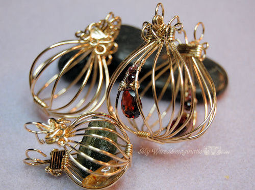2 Hinged Cages And A Locket Wire Wrap Pendant Tutorial