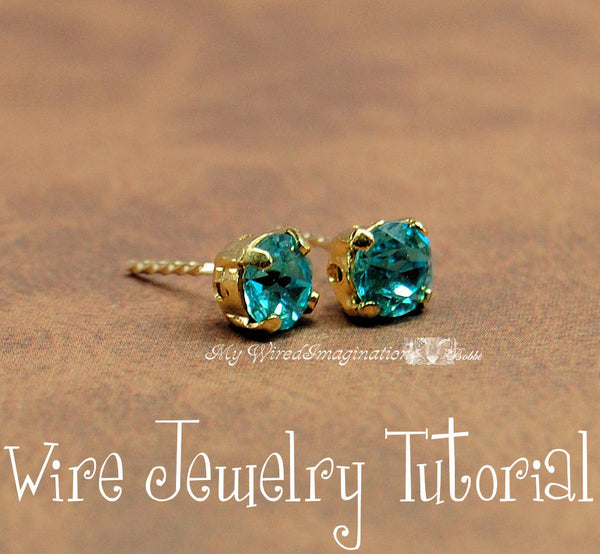 how to make stud earrings with wire