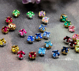 4mm Square Rhinestone, Vintage Swarovski Crystal, Now 42 Colors With Settings