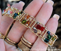 Story Teller Link Bracelet, Wire Wrap Jewelry Tutorial