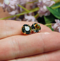 Original Vitrail Medium Color, 2 Pcs Vintage Swarovski 8mm Art 4471, Cushion Cut Square with Setting