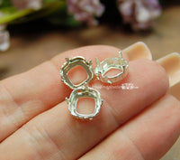 3 pcs Silver or Gold Plated Sew On Settings for Swarovski 10mm 4470