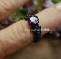 Alexandrite in Solid Sterling Silver, Handmade Ring, June Birthstone, Made to Order