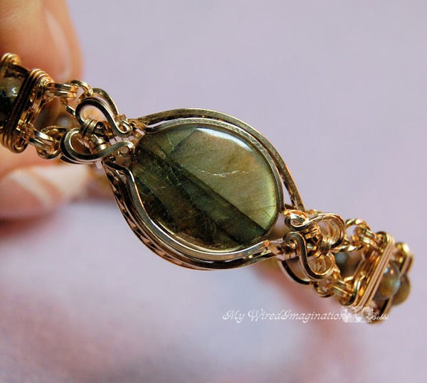 Ornate Double Terminated Focal or Clasp, Wire Wrap Jewelry Tutorial
