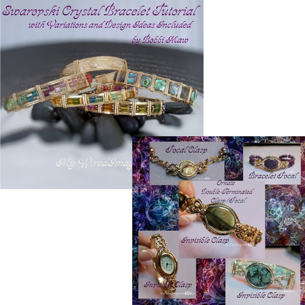 Swarovski Crystal Bracelet and Ornate Focal-Clasp, 2 Bracelet Tutorials 25% Discount