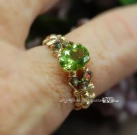Genuine Peridot, Handmade Ring, August Birthstone, Made to Order