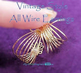 Vintage Style All Wire Earring, How to Wire Wrap Earrings