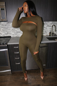 Olive Bodied One Piece