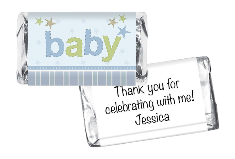 Baby Boy Baby Shower Mini Bar Wrappers
