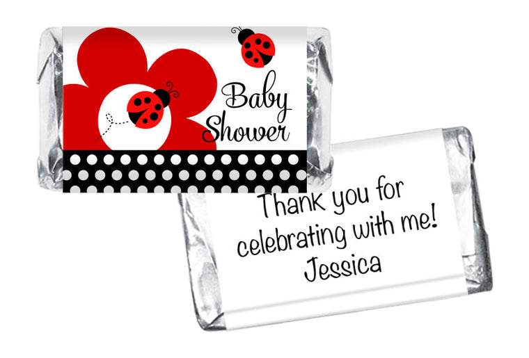 Lady Bug Fancy Girl Baby Shower Mini Bar Wrappers