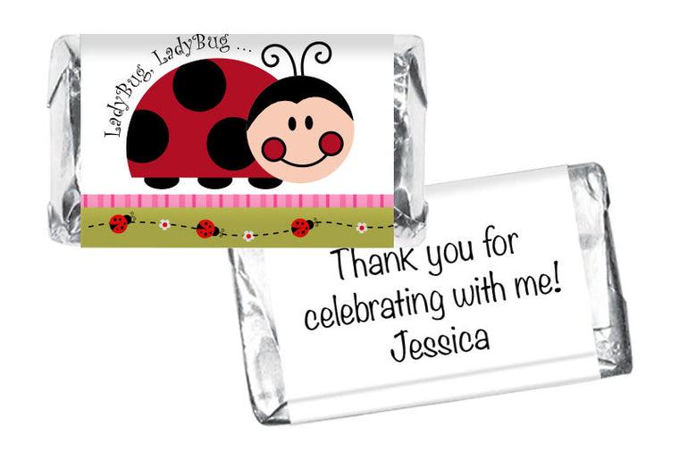 Lady Bug Lady Bug Girl Baby Shower Mini Bar Wrappers