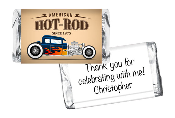 Hot Rod Boy Birthday Mini Bar Wrappers