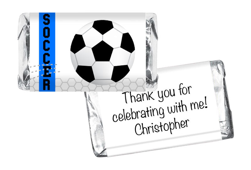 Soccer Party Boy Birthday Mini Bar Wrappers
