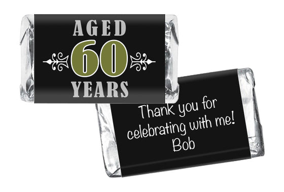 Aged to Perfection Adult Birthday Mini Bar Wrappers