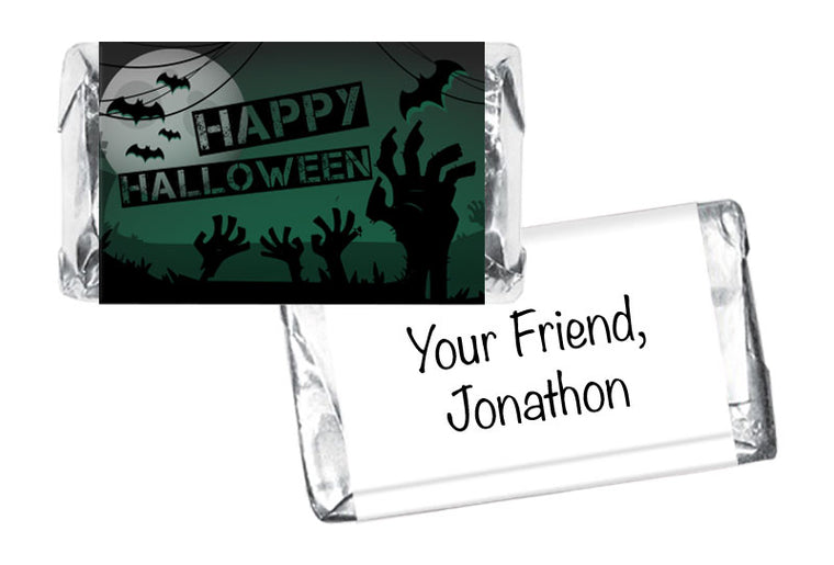 Zombie Halloween Mini Bar Wrappers