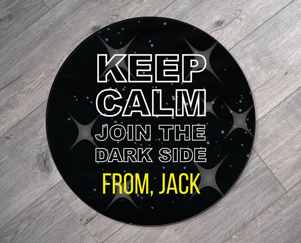 Keep Calm Join the Dark Side Personalized Valentine's Day Stickers