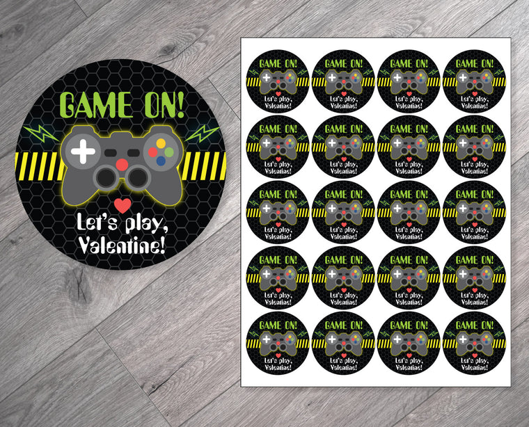 Game On! Personalized Valentine's Day Stickers