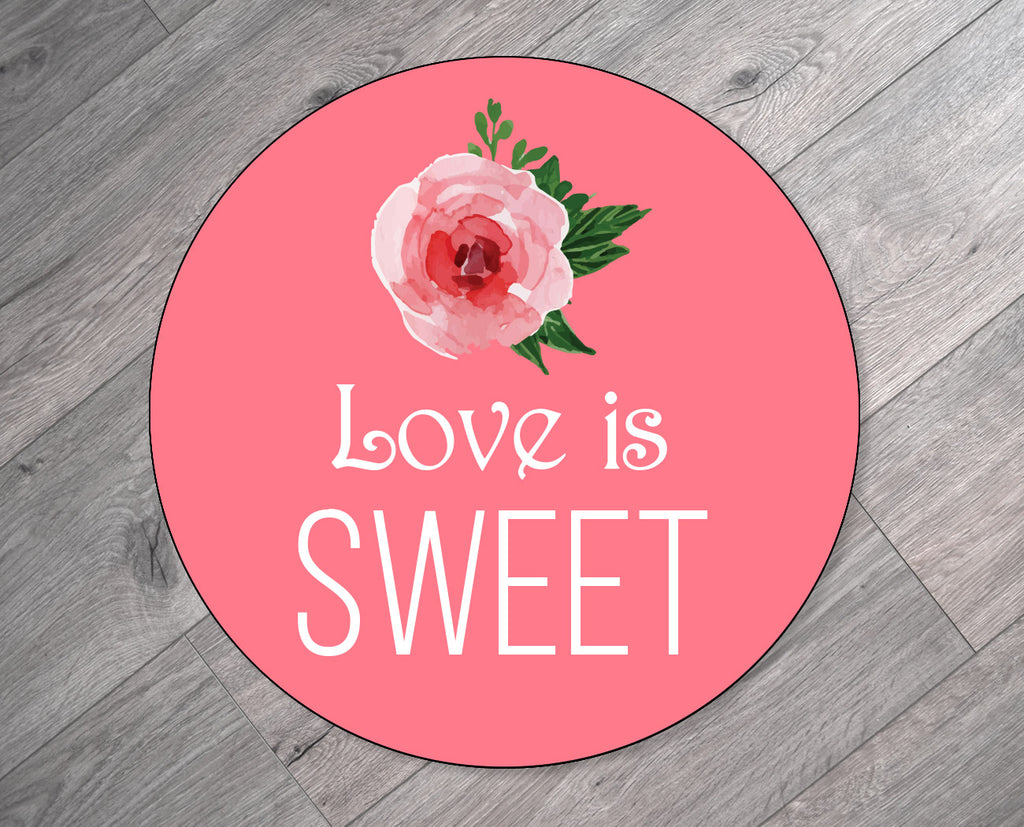 Love is Sweet Valentine's Day Stickers