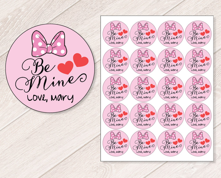 Bee Mine Personalized Valentine's Day Stickers