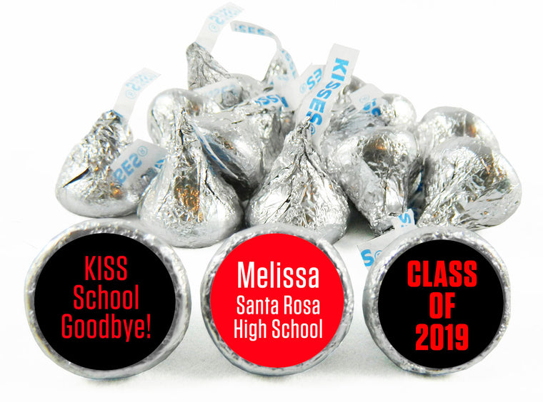 Kiss School Goodbye! Graduation Labels for Hershey's Kisses