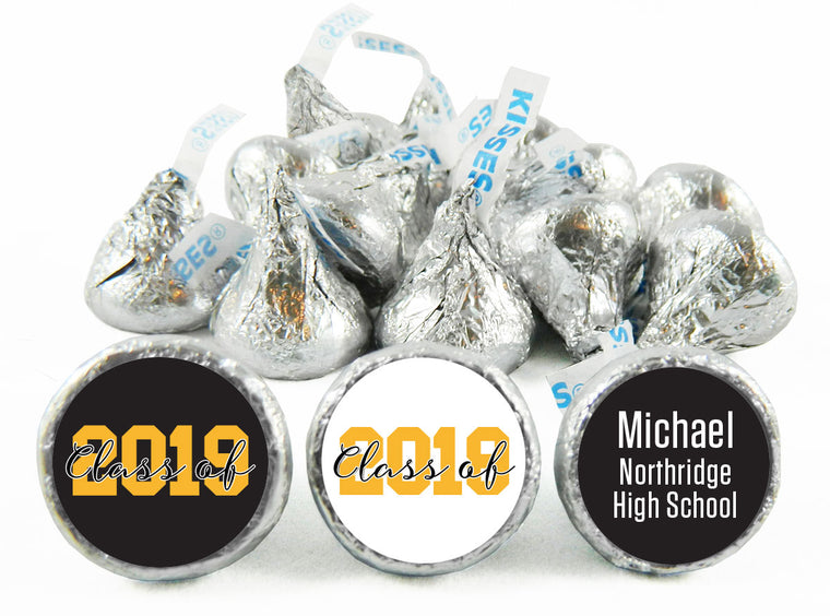 Class of Graduation Labels for Hershey's Kisses