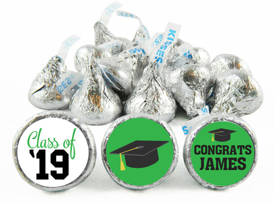 Grad Hat Class of Graduation Labels for Hershey's Kisses