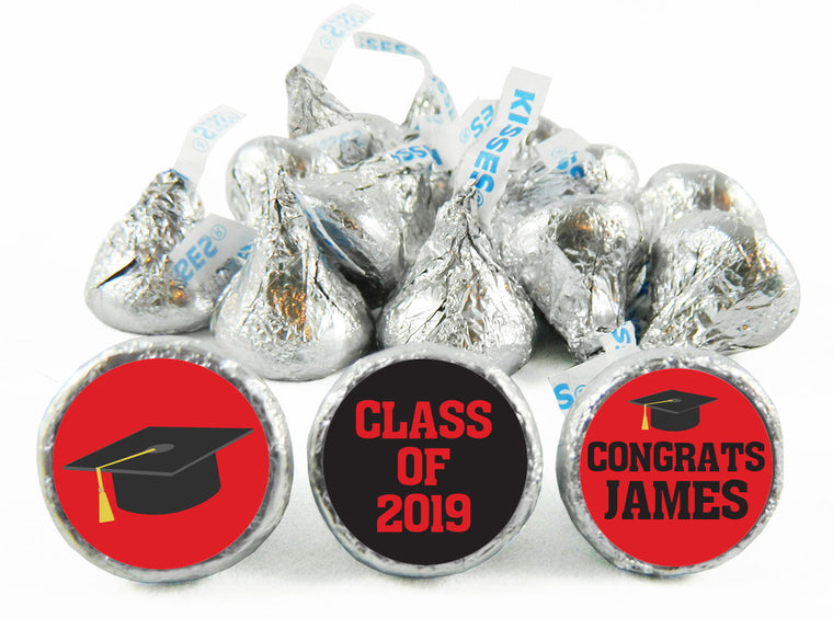 Grad Hat Graduation Labels for Hershey's Kisses