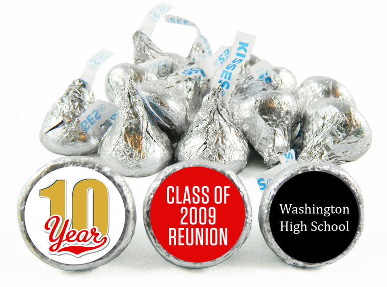 Celebrating 10, 20, 30, 40, 50 any Year Reunion Labels for Hershey's Kisses