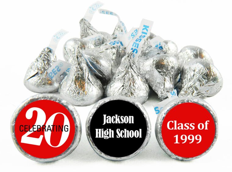 Celebrating 20, 30, 40, 50 any Year Reunion Labels for Hershey's Kisses