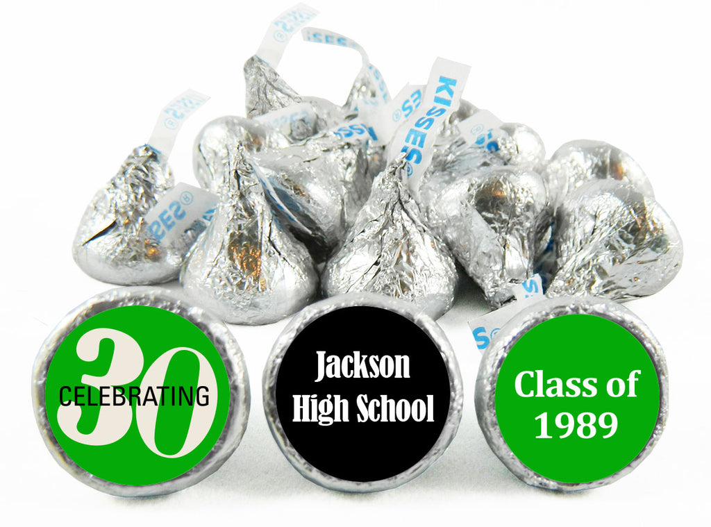 Celebrating 30, 40, 50 any Year Reunion Labels for Hershey's Kisses