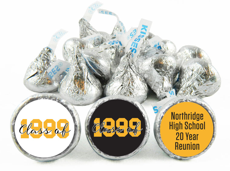 High School or College Reunion Labels for Hershey's Kisses