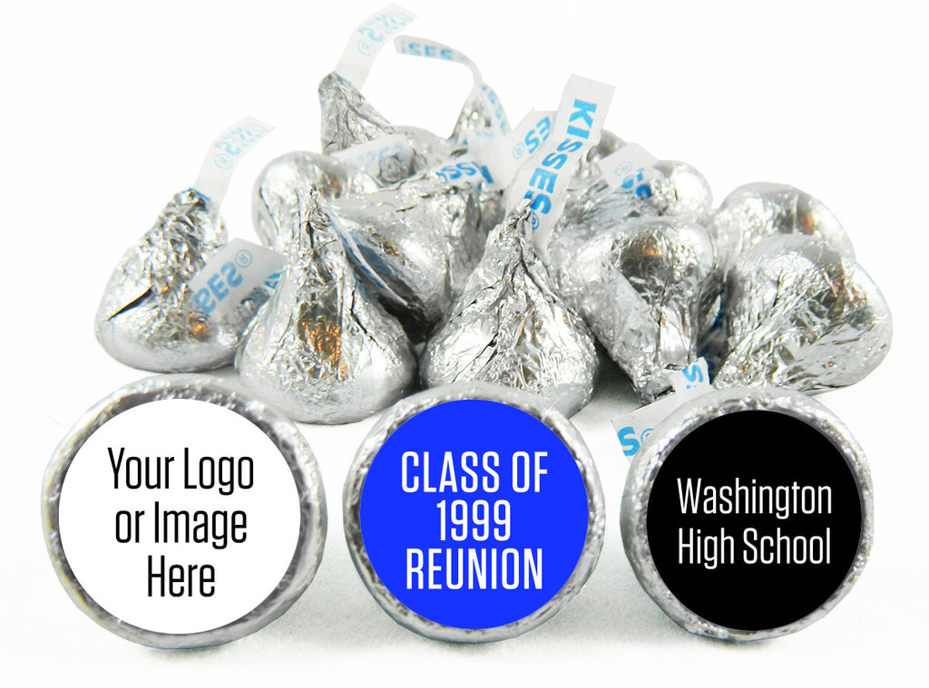 Add a School Logo or Image Reunion Labels for Hershey's Kisses