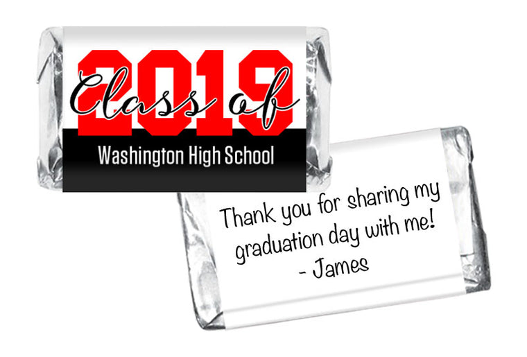 Large Year Graduation Mini Bar Wrappers