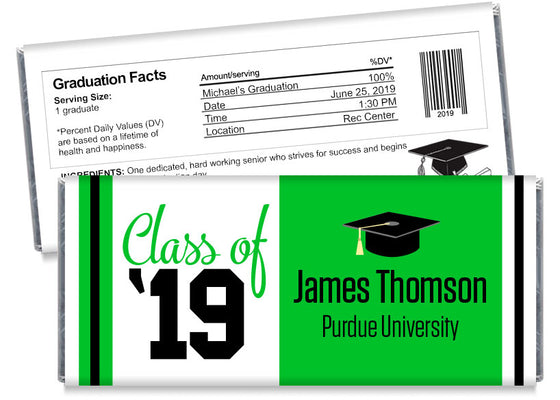 Class of '20 School Graduation Candy Bar Wrappers