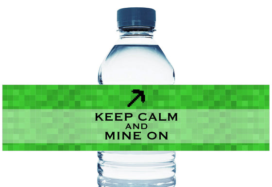 Keep Calm Mine On Personalized Boy Birthday Water Bottle Labels