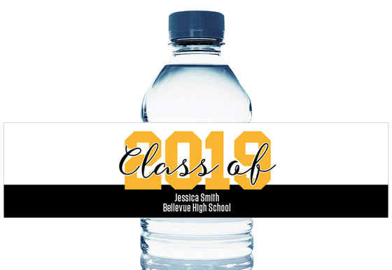 Large 2019 Personalized School Graduation Water Bottle Labels