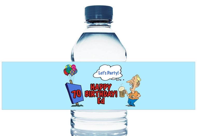 Time for Beer! Personalized Adult Birthday Water Bottle Labels