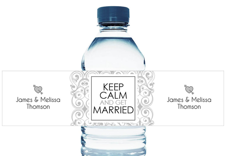 Paisley Personalized Wedding Water Bottle Labels