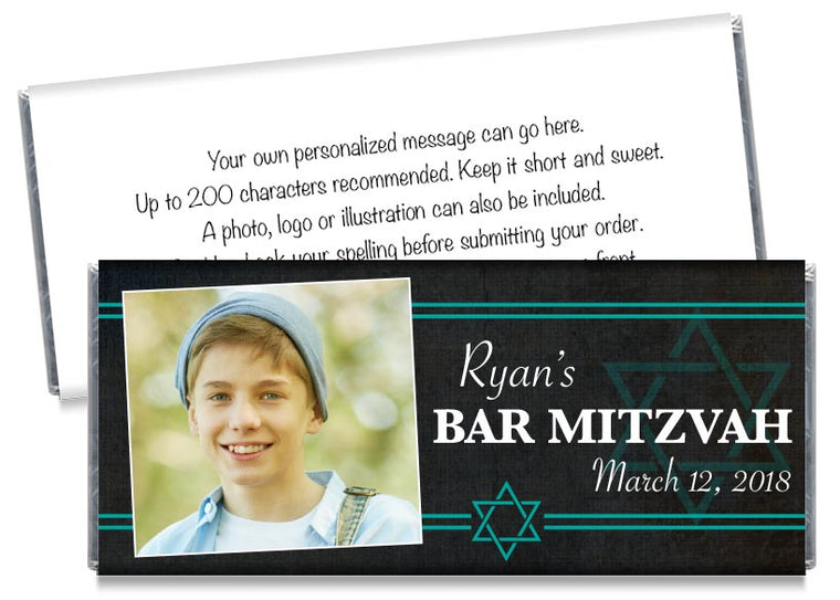 Bar Mitzvah Photo Candy Bar Wrappers